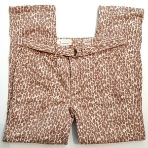 """ANTHROPOLOGIE """"The Wanderer"""" Cheetah Pants Size 29"""